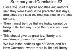 summary and conclusion 2
