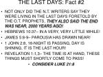 the last days fact 2