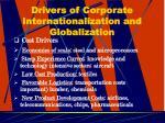 drivers of corporate internationalization and globalization13