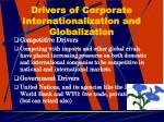 drivers of corporate internationalization and globalization14