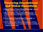 financing international and global operations