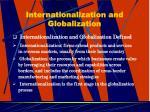 internationalization and globalization