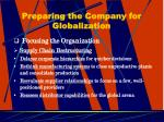 preparing the company for globalization18