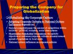 preparing the company for globalization23