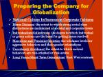 preparing the company for globalization24