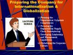 preparing the company for internationalization globalization