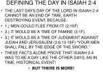 defining the day in isaiah 2 4