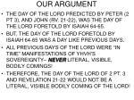 our argument