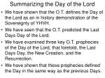 summarizing the day of the lord