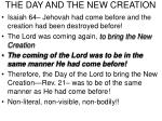 the day and the new creation17