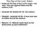 the day of the lord edom