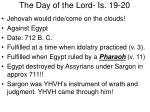 the day of the lord is 19 20