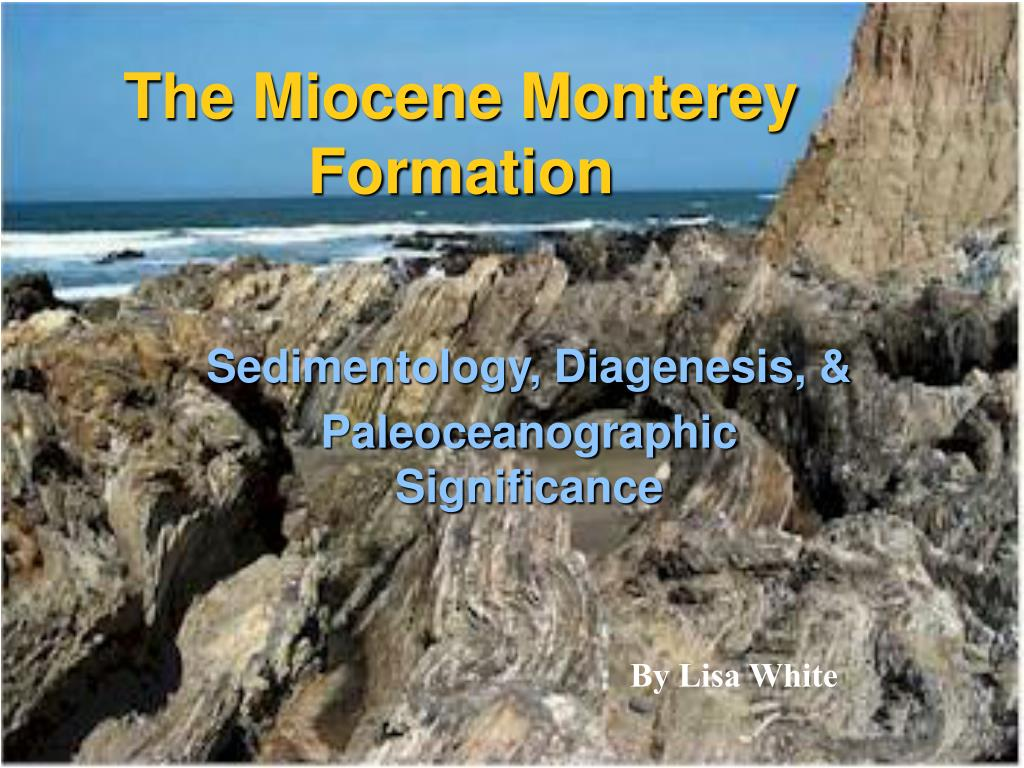 the miocene monterey formation l.