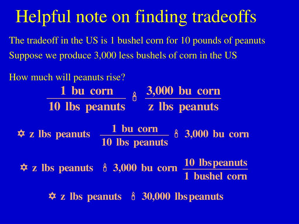 Helpful note on finding tradeoffs