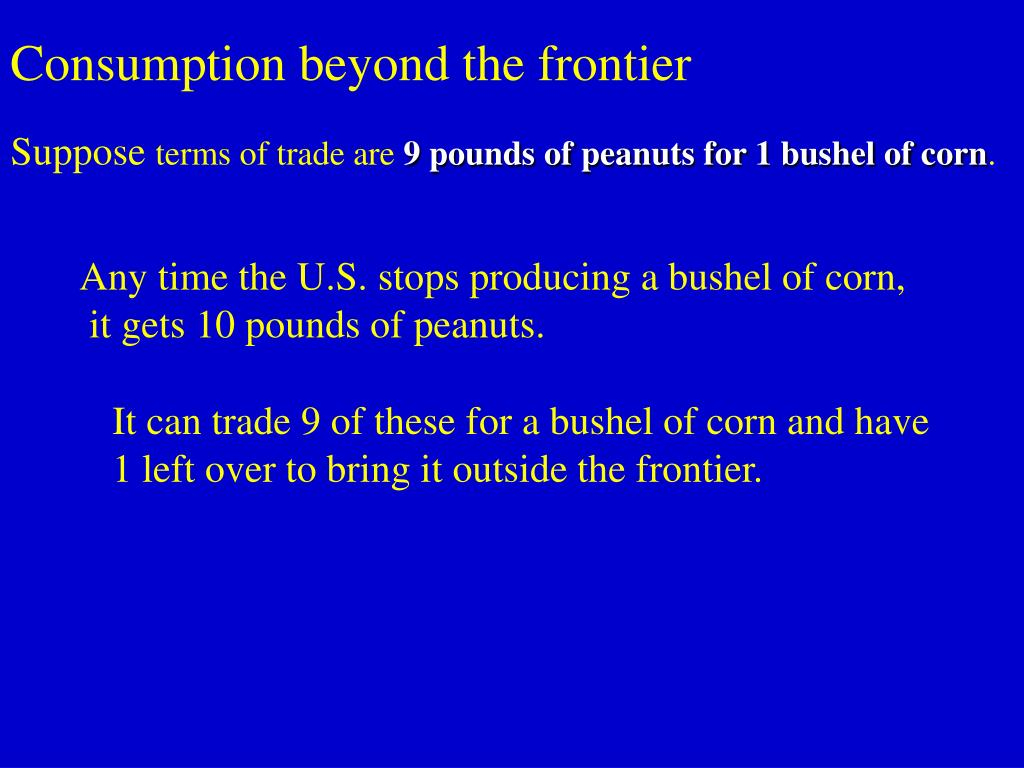 Consumption beyond the frontier