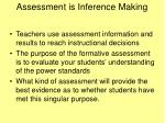 assessment is inference making