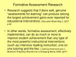 formative assessment research
