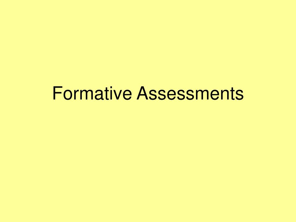 formative assessments l.