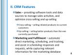 ii crm features