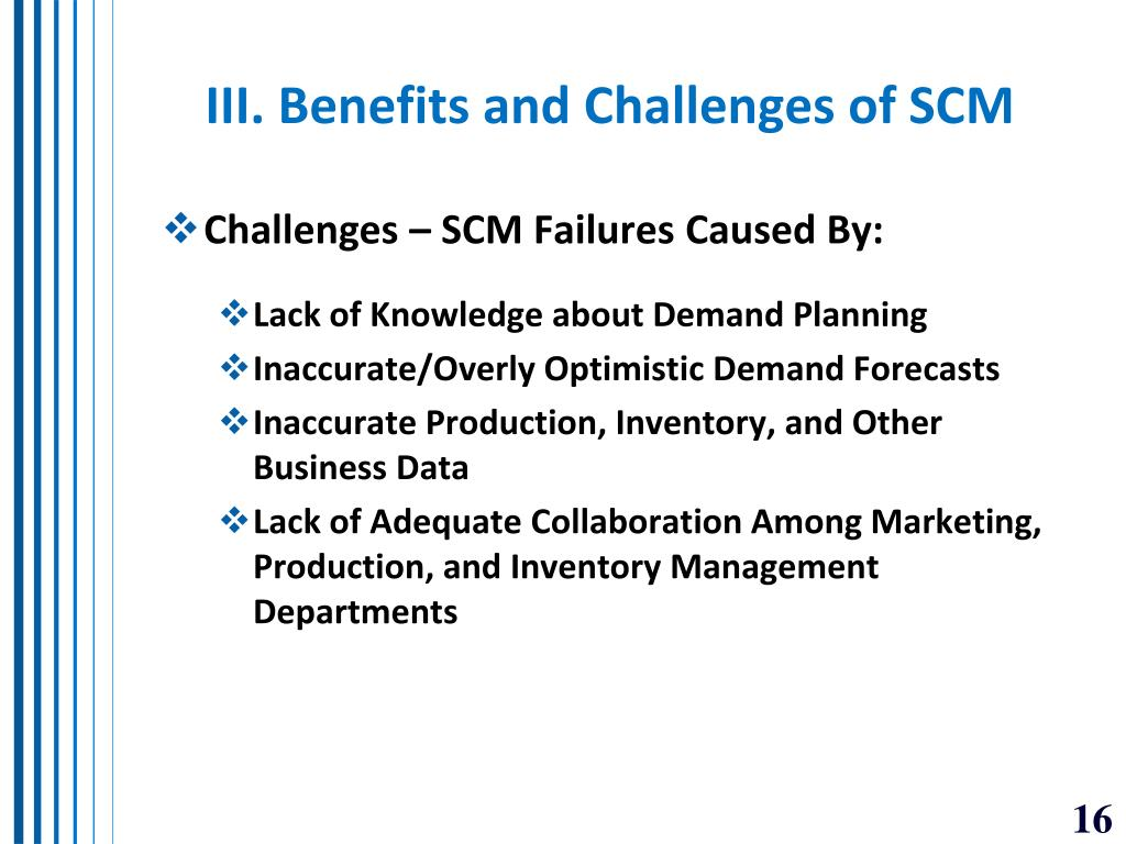 III. Benefits and Challenges of SCM