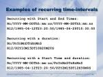 examples of recurring time intervals