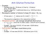 anti dilution protection