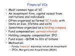 financial vcs