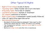 other typical vc rights