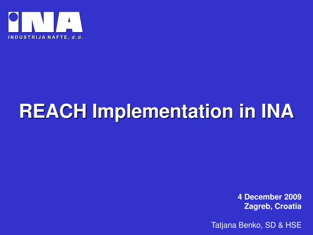 reach implementation in ina l.