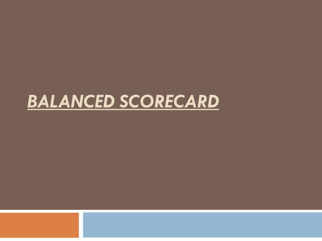 balanced scorecard l.