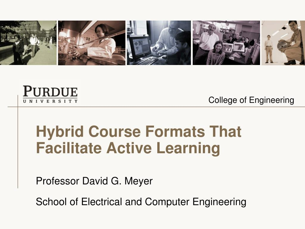 hybrid course formats that facilitate active learning l.