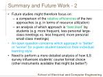 summary and future work 2