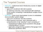 the targeted courses
