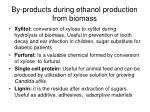 by products during ethanol production from biomass