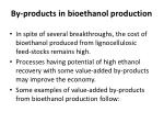 by products in bioethanol production