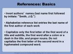 references basics