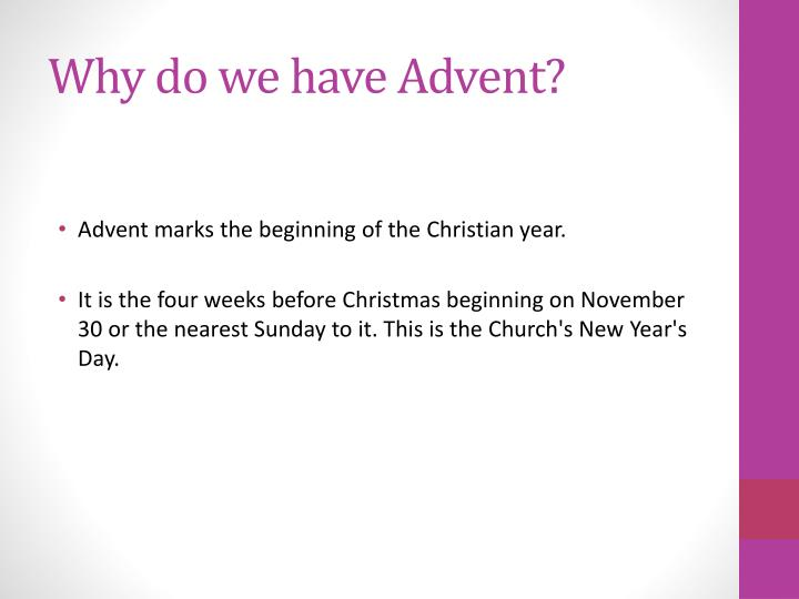 Why do we have advent