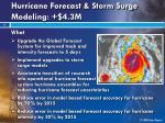 hurricane forecast storm surge modeling 4 3m