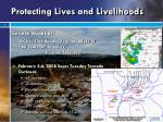 protecting lives and livelihoods