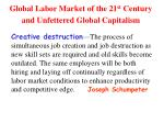 global labor market of the 21 st century and unfettered global capitalism