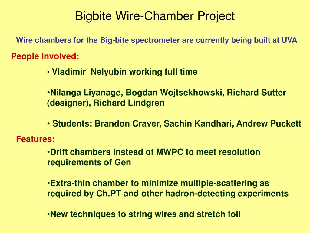bigbite wire chamber project l.