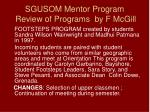 sgusom mentor program review of programs by f mcgill12