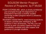 sgusom mentor program review of programs by f mcgill15