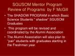 sgusom mentor program review of programs by f mcgill18