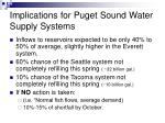implications for puget sound water supply systems