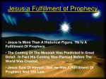 jesus a fulfillment of prophecy