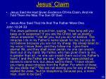 jesus claim