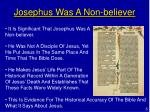 josephus was a non believer