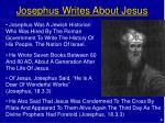 josephus writes about jesus