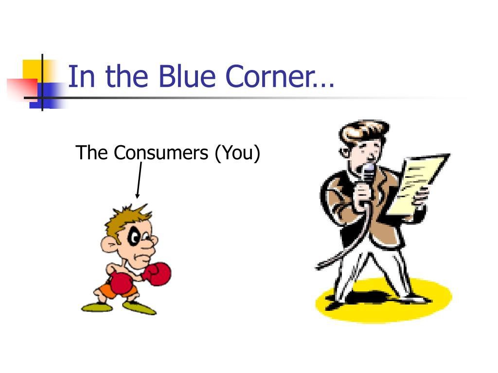 In the Blue Corner…